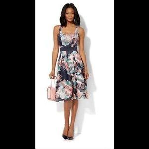New York & Company Midi Flare Dress XS